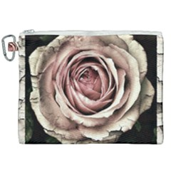 Vintage Rose Canvas Cosmetic Bag (xxl) by vintage2030