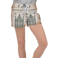 Building News Women s Velour Lounge Shorts by vintage2030