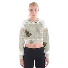 Tag Bird Cropped Sweatshirt by vintage2030