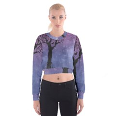Silhouette 1131861 1920 Cropped Sweatshirt by vintage2030