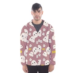 Cute Kawaii Popcorn Pattern Hooded Windbreaker (men) by Valentinaart