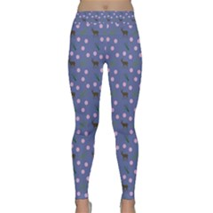 Blue Deer Pattern Classic Yoga Leggings by snowwhitegirl