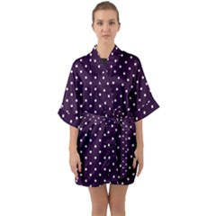 Little  Dots Purple Quarter Sleeve Kimono Robe by snowwhitegirl