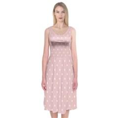 Little  Dots Pink Midi Sleeveless Dress by snowwhitegirl