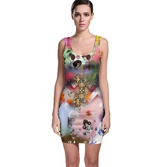 Pattern Patchwork Bodycon Dress by snowwhitegirl