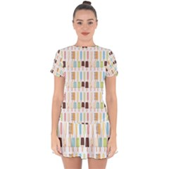 Candy Popsicles White Drop Hem Mini Chiffon Dress by snowwhitegirl