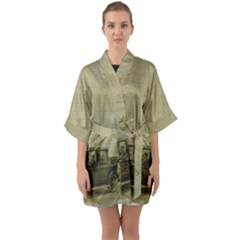 Background 1706642 1920 Quarter Sleeve Kimono Robe by vintage2030