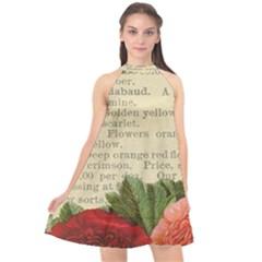 Flowers 1776422 1920 Halter Neckline Chiffon Dress  by vintage2030