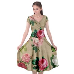 Flower 1770189 1920 Cap Sleeve Wrap Front Dress by vintage2030