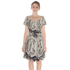 Young 1515867 1280 Short Sleeve Bardot Dress by vintage2030