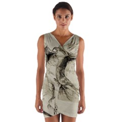 Bird 1515866 1280 Wrap Front Bodycon Dress by vintage2030