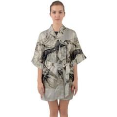 Bird 1515866 1280 Quarter Sleeve Kimono Robe by vintage2030