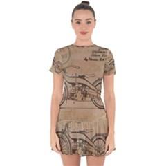 Motorcycle 1515873 1280 Drop Hem Mini Chiffon Dress by vintage2030
