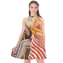 Retro 1410650 1920 Halter Neckline Chiffon Dress  by vintage2030