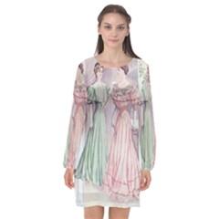 Vintage 1331476 1920 Long Sleeve Chiffon Shift Dress  by vintage2030