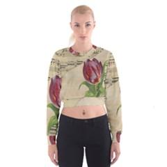 Tulip 1229027 1920 Cropped Sweatshirt by vintage2030