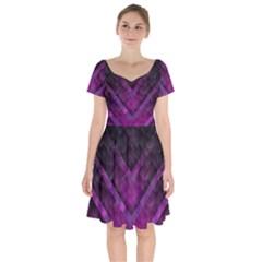 Background Wallpaper Motif Design Short Sleeve Bardot Dress by Sapixe