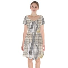 Vintage 1167772 1920 Short Sleeve Bardot Dress by vintage2030