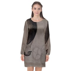 Vintage 1143341 1920 Long Sleeve Chiffon Shift Dress  by vintage2030