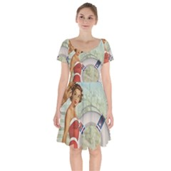 Retro 1135044 1920 Short Sleeve Bardot Dress by vintage2030