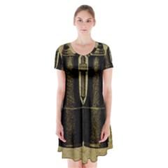 Background 1135045 1920 Short Sleeve V-neck Flare Dress by vintage2030