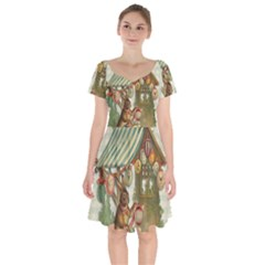 Easter 1225826 1280 Short Sleeve Bardot Dress by vintage2030