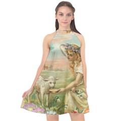 Easter 1225814 1280 Halter Neckline Chiffon Dress  by vintage2030