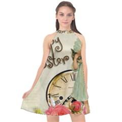 Easter 1225805 1280 Halter Neckline Chiffon Dress  by vintage2030