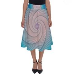 Decorative Background Blue Perfect Length Midi Skirt
