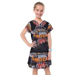 Monster Truck Lego Technic Technic Kids  Drop Waist Dress by Sapixe
