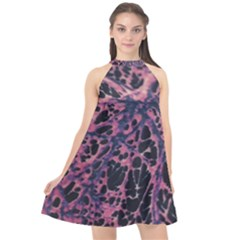 Fabric Textile Texture Macro Model Halter Neckline Chiffon Dress  by Sapixe