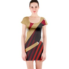 Fabric Textile Design Short Sleeve Bodycon Dress
