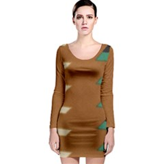 Fabric Textile Texture Abstract Long Sleeve Bodycon Dress