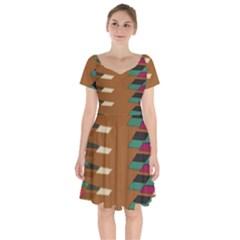 Fabric Textile Texture Abstract Short Sleeve Bardot Dress by Sapixe