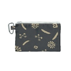 Pattern Seamless American Culture Canvas Cosmetic Bag (small) by Sapixe
