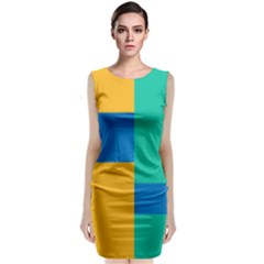 Background Abstract Classic Sleeveless Midi Dress by Sapixe