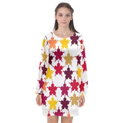 Background Abstract Long Sleeve Chiffon Shift Dress  by Sapixe