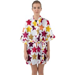 Background Abstract Quarter Sleeve Kimono Robe by Sapixe
