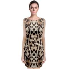 Pattern Leopard Skin Background Classic Sleeveless Midi Dress by Sapixe