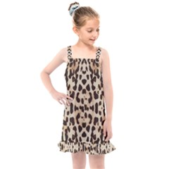 Pattern Leopard Skin Background Kids  Overall Dress by Sapixe