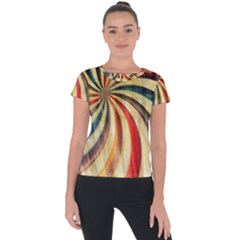 Abstract 2068610 960 720 Short Sleeve Sports Top  by vintage2030