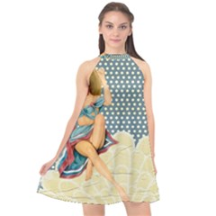 Retro 1107634 1920 Halter Neckline Chiffon Dress  by vintage2030