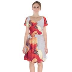 Retro 1107638 1920 Short Sleeve Bardot Dress by vintage2030
