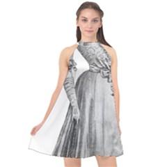 Vintage 971636 1280 Halter Neckline Chiffon Dress  by vintage2030
