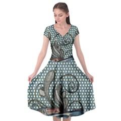Retro 1107633 1920 Cap Sleeve Wrap Front Dress by vintage2030