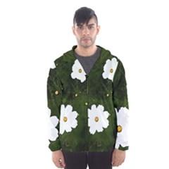 Daisies In Green Hooded Windbreaker (men) by DeneWestUK