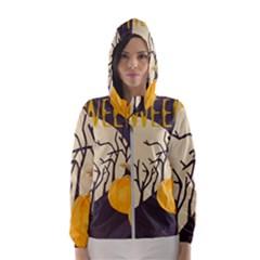 Halloween 979495 1280 Hooded Windbreaker (women) by vintage2030