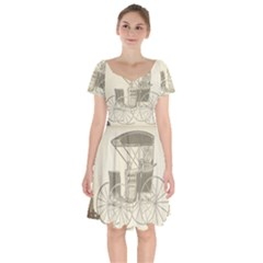 Vintage 979514 1280 Short Sleeve Bardot Dress by vintage2030