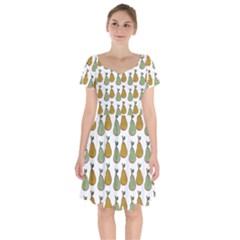 Pears White Short Sleeve Bardot Dress by snowwhitegirl