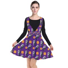 Halloween Skeleton Pumpkin Pattern Purple Other Dresses by snowwhitegirl
